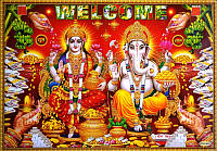 """Постер """"Индийские боги"""" Лакшми Ганеш Jothi 8318"""