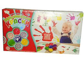 Пальчиковые краски для малышей 4 цвета Danko Toys