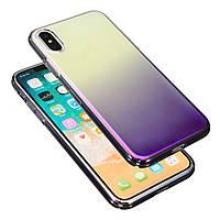 ЦветGradientShockproofПрозрачныйжесткийПК Чехол Обложка для iPhoneX
