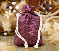 Мешочек из джута Фиолетовый