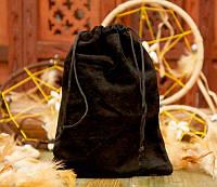 Мешочек велюровый Чёрный