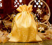 Мешочек из сатина с орнаментом Желтый