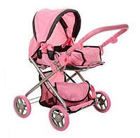 Детская игрушечная коляска 9379 трансформер с сумкой, корзинкой, люлькой-переноской, регулируемой ручкой Royaltoys