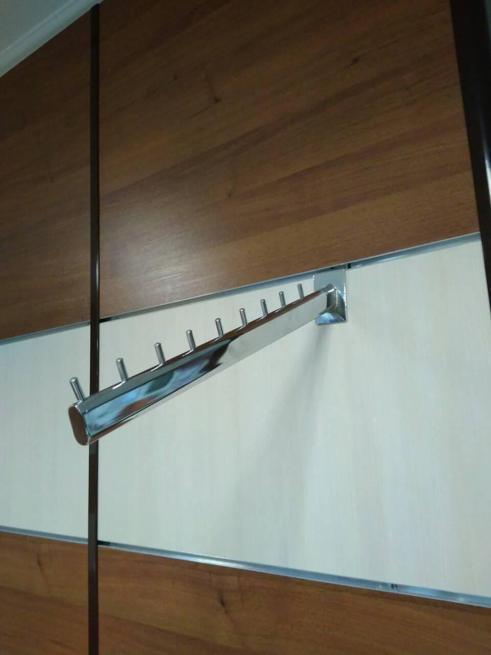 Кронштейн накл., с 9ю цилиндрами, L=400мм, с овальной трубы Ø15х30мм