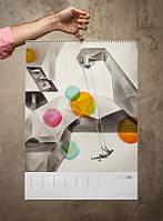 Разработка дизайна настенного календаря формата A3 и более