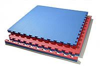 Татами (будо-маты) 1х1 40 мм (красно-синий)