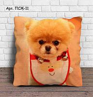 Подарочная подушка с 3Д картинкой. Подарок на Новый Год