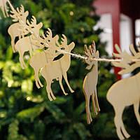 Рождество 10шт Дерево DIY Баннер Вудчипс Гарланд Висящий Кулон Новогодний подарок для украшения елки
