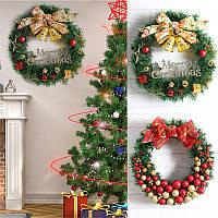 РождественскаявечеринкаДомашнееукрашение30смВенок из ротанга Кулон Игрушки для детей Детский подарок