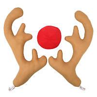 РождествоАвтоУкрашение3PCSоленьихоленей рогов игрушек орнамент для детей детский подарок