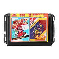 16bit 2 в 1 Super Game Cartridge для игровой консоли Sega