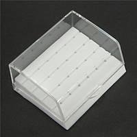 Зубной Пластиковые 24 отверстия Bur Holder Коробка Для высокоскоростных боров