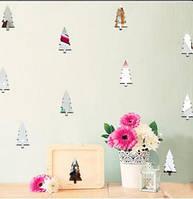 Рождество 2017 Funlife Children Room Украшение стены наклейки Рождественская елка Лесное украшение