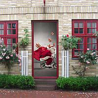 Рождество 2017 Funlife3D дверные наклейки для Санта-Клауса креативные обои