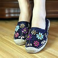 Эспадрильи* (Гипюр)-(Лен) *Летняя распродажа ,эспадрильи женские,женская обувь эспадрильилетние женские эспад