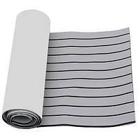 2400x600x6mm EVA Пена Серый с черной линией Лодка Напольный Faux Teak Decking Sheet Pad