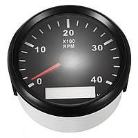 12 / 24V Морской тахометр Лодка Измеритель тахометра LCD Счетчик моточасов 0-4000 об / мин 85 мм