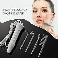 Дарсонваль косметологический аппарат LZ-006A для ухода за кожей лица и тела, 4 насадки