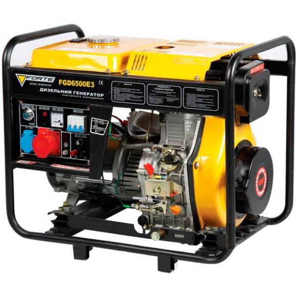 Трехфазный  дизельный генератор Forte FGD6500E3 (5,0 кВт)