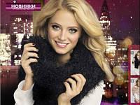 Женский шарф черный (шарф-трансформер)