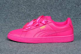 Кроссовки женские Puma Basket Heart / NR-PMM-586 (Реплика)