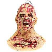 Хэллоуин Страшный зараженный зомби Для взрослых Маска Плавильный сустав Латекс Ужасный костюм