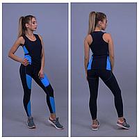 Спортивная одежда женская | Черные лосины и топ для спорта