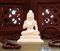 Статуэтка белый мрамор Шива