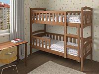 Двухъярусная кровать трансформер деревянная Белоснежка из натурального Бука, фото 1