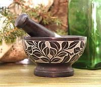 Ступка из черного мрамора MP-99001