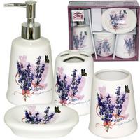 Набор аксессуаров для ванной комнаты (керамика) Лаванда SNT 888-06-006