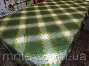 "Ткань для пошива постельного белья ранфорс  Клетка зеленая  / ""Чарівна Ніч"""