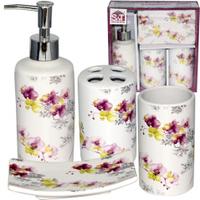 Набор аксессуаров для ванной комнаты (керамика) Орхидея SNT 888-06-007