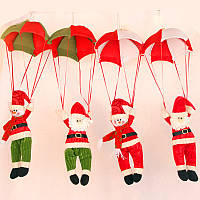 Рождественский дом Декорации потолка Парашют Санта-Клаус Смоуман Новый год висит Кулон Рождество