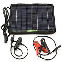 12V 5W 235 * 207mm Высокотехнологичный монокристаллический кремний Солнечная Зарядное устройство Встроенный блокирующий диод