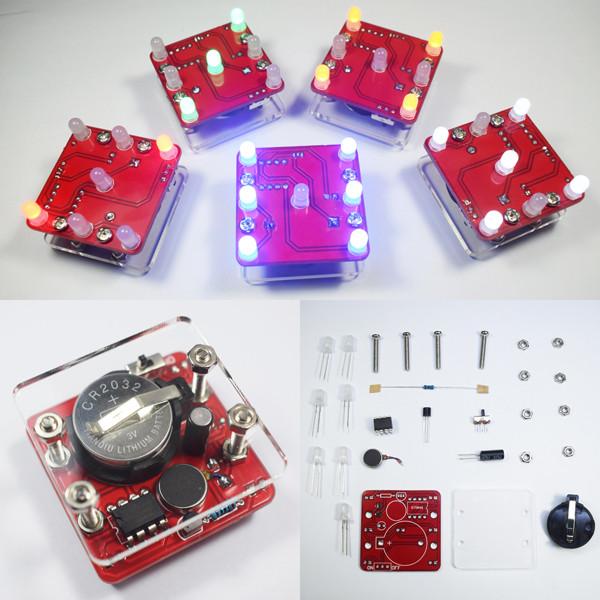 3Pcs Geekcreit® DIY Shaking Blue LED Кости Набор с малой вибрацией Мотор-1TopShop