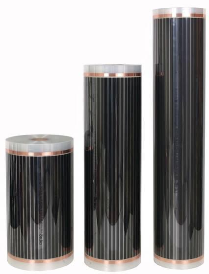Инфракрасный пленочный теплый пол, Heat Plus silver suana 100 см х 400 Вт/м.п. под ламинат, кафель Корея
