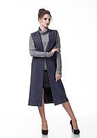 Женский кашемировый жилет пиджак. Модель Ж008_джинс., фото 1