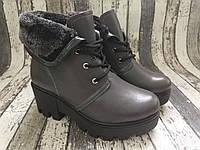 Женские кожаные зимние ботинки, натуральная кожа Viva