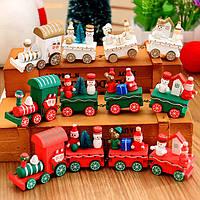 Рождество 2017 Деревянный поезд Новогоднее украшение Декор Инновационный подарок для детей Diecasts Игрушечный транспорт