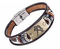 Кожаный браслет Primo Zodiac - Aquarius (Водолей)