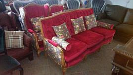 Комплект мягкой мебели барокко диван и два кресла