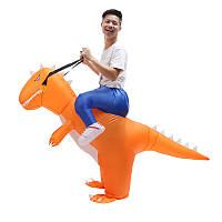 ХэллоуиннадувнойкостюмДлявзрослыхT-Rex Dinosaur Suit Blowup Дракон Ride Outfit