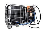 Мобільний паливний заправний модуль для ДТ на базі єврокуба, 1000 литров, 12 вольт, фото 2