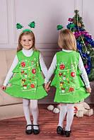 Детский новогодний костюм для девочки Елочка, детские новогодние костюмы оптом от производителя