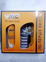 Набор для бритья BIC Бритва Flex & Easy с 4 сменными кассетами + Пена для бритья 200 мл
