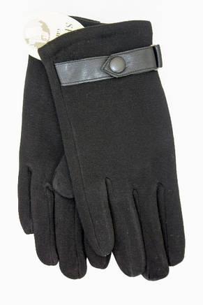 Мужские стрейчевые перчатки кролик Средние, фото 2