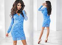 Платье женское 1130 декольте кружево (деми)