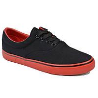 462cae0f Кеды Vans чёрные низкие с красной подошвой (DESUN) 36-40 (реплика)