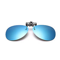 BIKIGHT Зеркальный пилотный поляризованный зажим на солнцезащитные очки Ночное видение Объектив Солнцезащитные очки Polaroid